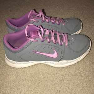 Gray and Purple Nike Sneakers